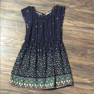 Gap girls xs blue floral dress
